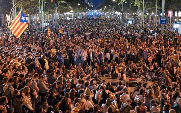 Desde la sentencia del Tribunal Supremo la tensión ha ido creciendo en los últimos días en Cataluña. Foto: AFP.