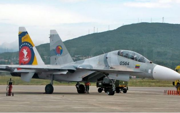 La aeronave Sukhoi 30 MK2 se precipitó a tierra.
