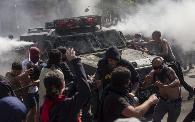 """El ecuatoriano falleció """"en las protestas sociales ocurridas en La Serena"""". Foto: AFP"""