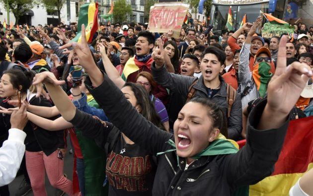 Según La Constitución boliviana, el ganador en primera vuelta debe obtener el 50% más uno de los votos válidos. Foto: AFP