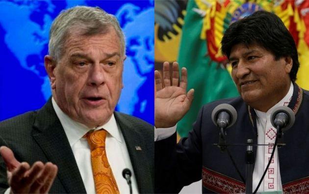 """Michael Kozak, pidió al actual presidente de Bolivia, Evo Morales, que cuente con """"exactitud"""" cada uno de los votos. Fotos: AFP / Reuters"""
