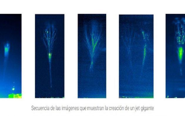 Los 'jets' gigantes son las descargas eléctricas más grandes que existen.