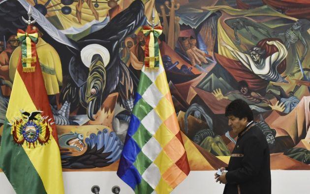 """El Gobierno de Ecuador """"saluda el pedido que formuló el Gobierno boliviano y que la OEA ha aceptado, de realizar una auditoría urgente"""". Foto: AFP"""