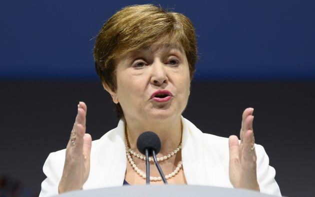"""""""Esperamos con ansias poder trabajar con su gobierno para abordar los desafíos económicos"""", dijo Georgieva. Foto: AFP"""