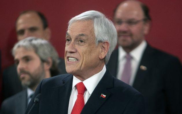 Piñera introdujo los cambios 10 días después de que estallaron las protestas. Foto: AFP