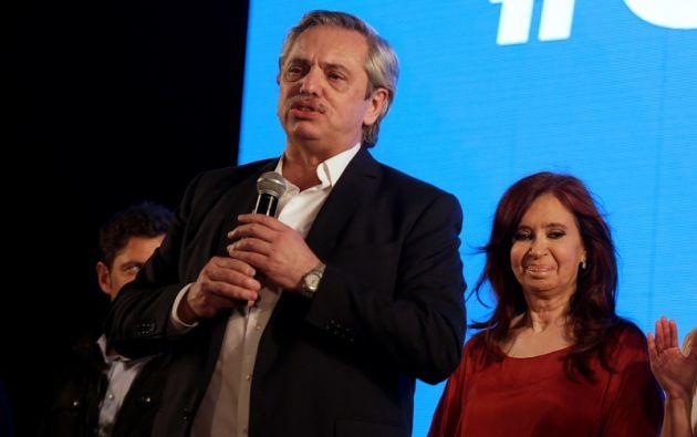 """""""Los tiempos que vienen no son fáciles"""", dijo Fernández a sus seguidores. Foto: Reuters"""