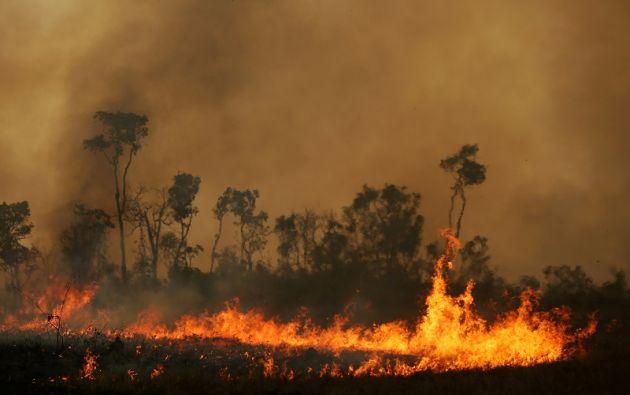 Incendio en un tramo de la selva amazónica. Foto archivo: Reuters