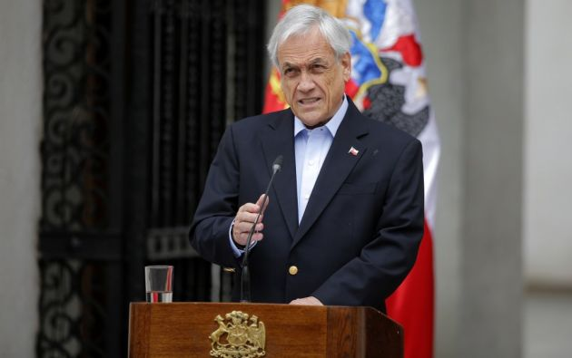 El presidente de Chile, Sebastián Piñera, anunció hoy que Chile ya no organizará las cumbres APEC ni la COP25. Foto: AFP.
