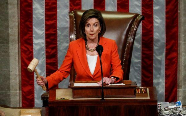 El 24 de septiembre, Pelosi anunció la decisión de su partido de tomar la peligrosa vía del juicio político. Foto: Reuters
