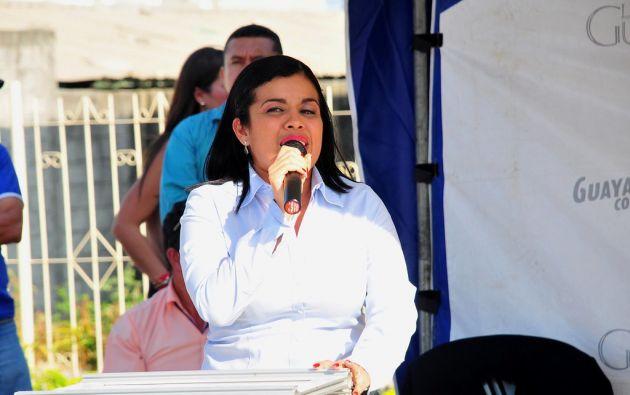 Alexandra Arce, exalcaldesa de Durán, fue detenida el pasado 13 de octubre.