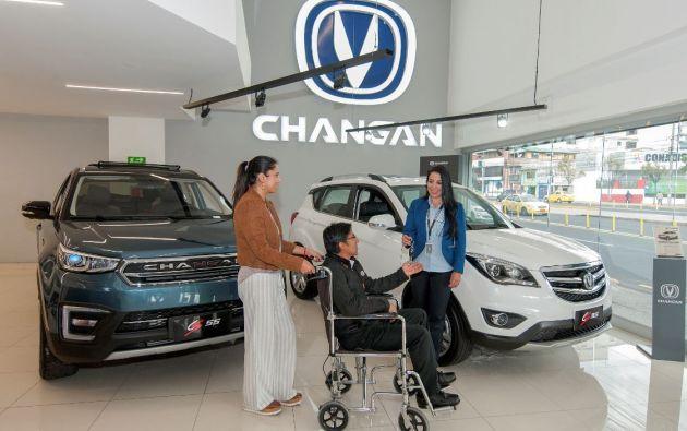 Changan es una de las marcas que ofrece vehículos exonerados para sus clientes en el mercado nacional. Foto: Segundo Espín.
