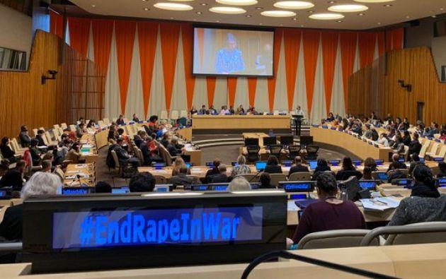 Víctimas de violencia sexual en distintas zonas de conflicto se dieron cita este miércoles en Naciones Unidas.