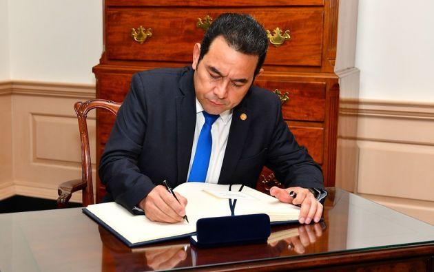 """""""Estaban preparando todo el sector del nororiente como un lugar para plantar, producir y exportar droga"""", dijo el presidente de Guatemala, Jimmy Morales."""