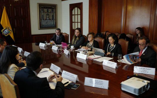 La delegación de la CIDH visitó Ecuador entre el 28 y 30 de octubre.