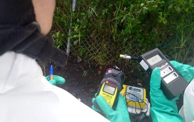 Unidad Especializada realizó la medición de niveles de radioactividad, y detectó valores normales.