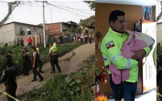 El recién nacido fue secuestrado en Guayaquil y trasladado hasta Cuenca, donde fue rescatado. Su madre fue asesinada.