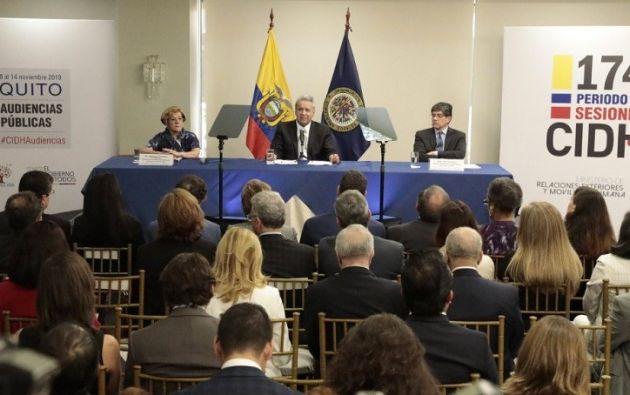 """""""Pusieron en jaque nuestra democracia"""", recalcó Moreno sobre los disturbios de octubre."""