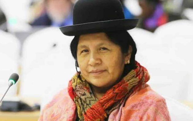 """María Eugenia Choque Quispe, quien este domingo renunció de manera """"irrevocable"""" a la presidencia del Tribunal Supremo Electoral."""