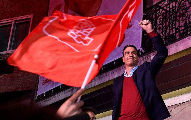 El PSOE del presidente del Gobierno en funciones, Pedro Sánchez, obtuvo 120 escaños en el Congreso. Foto: AFP