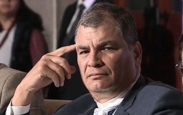 Rafael Correa fue acusado de cohecho en calidad de autor.