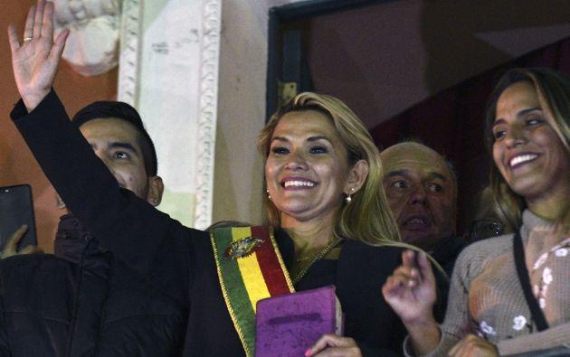 """Añez recordó su intención de convocar nuevas elecciones """"lo más pronto posible"""".Foto: AFP"""