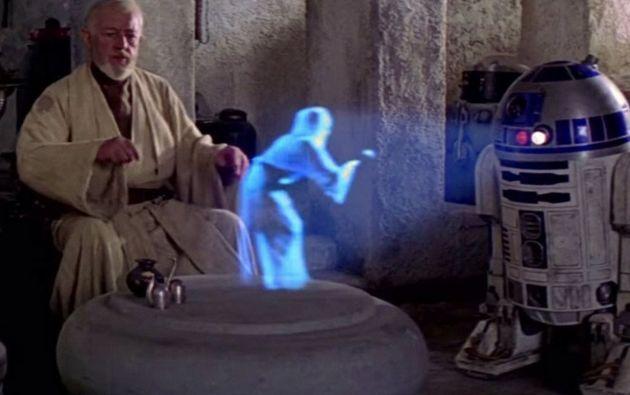 La tecnología de hologramas fue expuesta al mundo por la saga cinematográfica Star Wars.