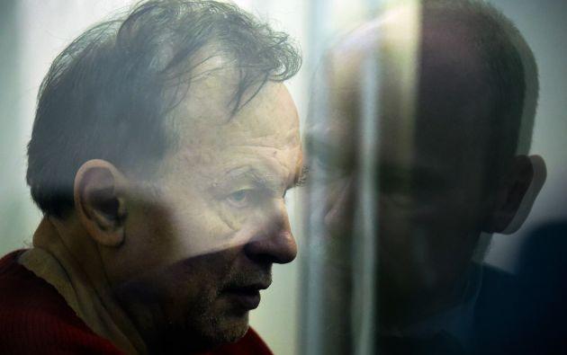 Sokolov fue detenido la semana pasada en San Peterburgo, cuando intentaba deshacerse del cuerpo de su exalumna Anastasia Yéschenko. Foto: AFP.