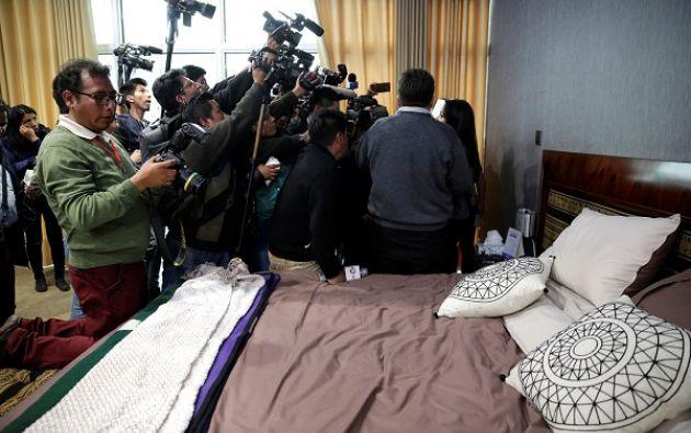 """""""Parece una habitación de un jeque árabe, el derroche de dinero que se ha hecho para la construcción de este palacio realmente es un insulto"""", dijo la ministra de Comunicación. Foto: Reuters"""