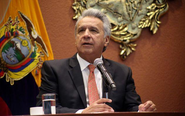 """""""No desmayaré en mi esfuerzo por buscar mejores días para los ecuatorianos"""", dijo Moreno."""