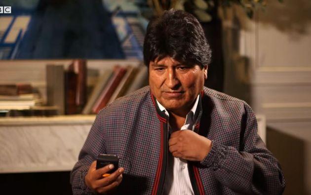 Durante la entrevista Evo Morales acusó al periodista de la BBC Mundo de ser representante de la derecha boliviana.