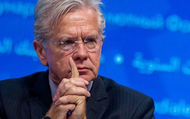 Vocero principal del FMI, Gerry Rice. Foto: AFP