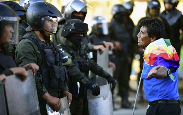 """La CIDH anunció que enviará este viernes una misión a Bolivia para """"observar la situación de los derechos humanos"""". Foto: AFP"""