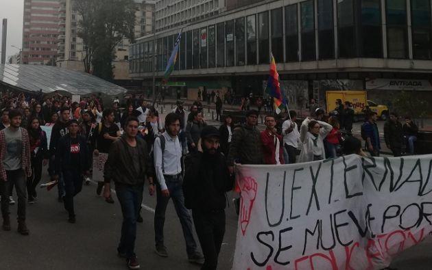 """Las protestas convocadas para hoy como un """"paro nacional"""" son las más grandes contra el Gobierno de Duque. Foto tomada de Twitter"""