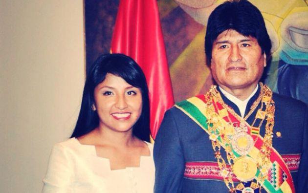 Evaliz Morales, es fruto de la relación entre Evo Morales y Francisca Alvarado Pinto.