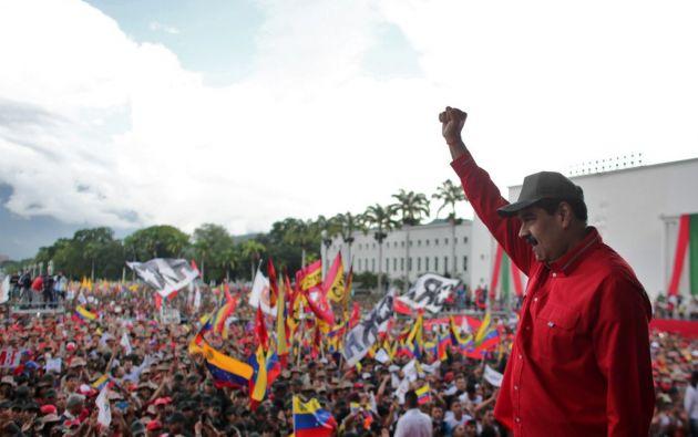 """""""Le tocó el turno a Colombia, le tocó el turno de rebelión de la ciudadanía"""", dijo Maduro. Foto: AFP"""