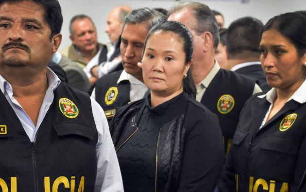 Keiko, de 44 años, considerada como la persona más poderosa del Perú entre 2016-2018, fue enviada a prisión preventiva el 31 de octubre de 2018. Foto: AFP
