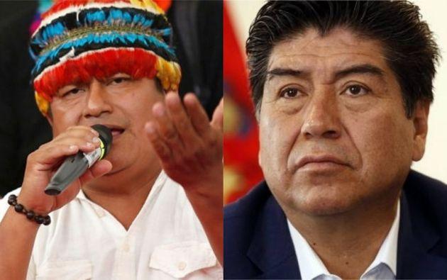 El presidente de la Conaie, Jaime Vargas, y el alcalde de Quito, Jorge Yunda, son investigados.