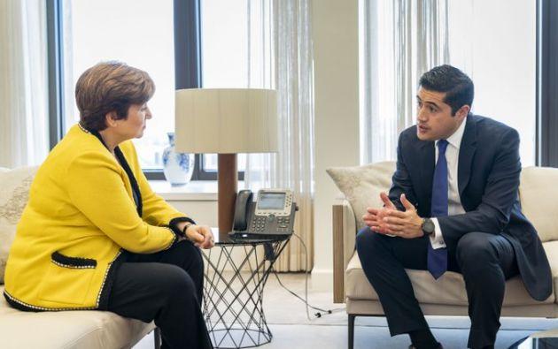 """Georgieva calificó el encuentro con Martínez como """"muy productivo""""."""