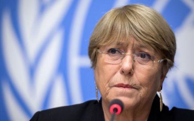 """""""Los disturbios del mes pasado tuvieron un alto costo humano"""", declaró Bachelet. Foto: AFP"""