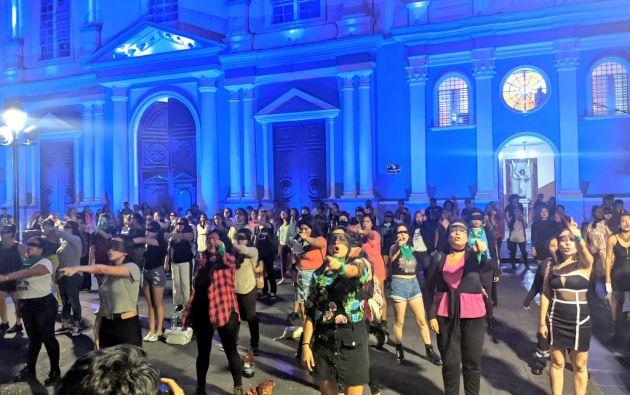 En la Plaza San Francisco se realizó también la coreografía | Fotos y videos: Diana Romero y José Villacreses.