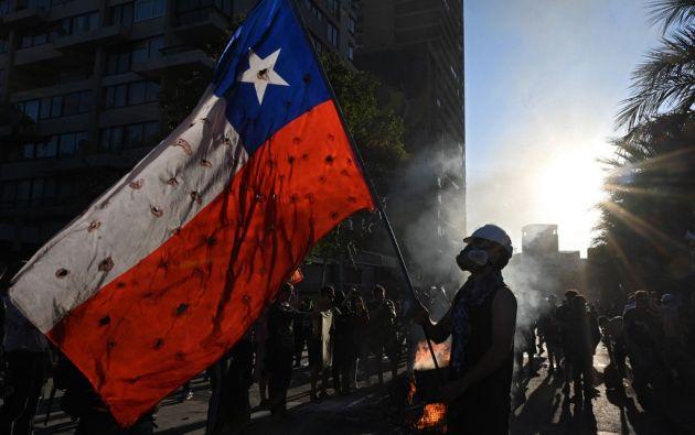 La convocatoria este domingo es para una marcha hacia la casa del presidente Sebastián Piñera, que celebra sus 70 años. Foto: AFP
