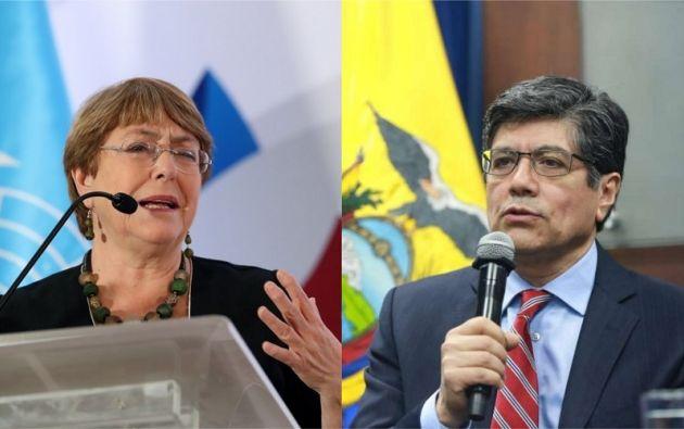 """""""La fuerza pública ecuatoriana actuó dentro del marco de la ley, con disciplina y con respeto"""", enfatizó Valencia."""