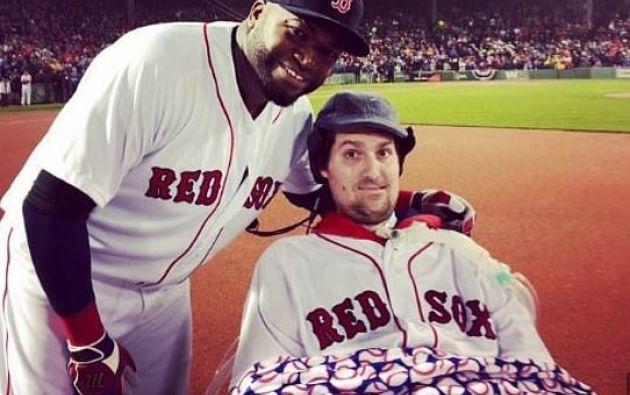 Pete Frates jugó profesionalmente baseball hasta que los doctores le diagnosticaron la enfermedad de Lou Gehrig. Foto: Twitter.