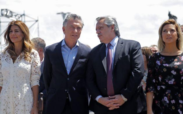 El nuevo mandatario recibirá la banda presidencial y el bastón de mando de parte de Macri en el Congreso. Foto: AFP