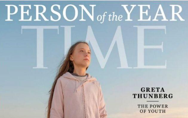 La Revista Time acaba de escoger a Greta Thunberg como la personalidad del año 2019.