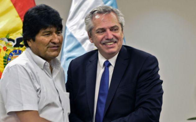 """El canciller recordó que """"hace un mes y pico"""" Morales pidió asilo a Argentina y el expresidente Macri """"no se lo concedió"""".Foto: AFP"""