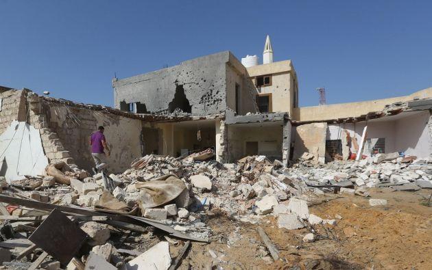 Las armas y los cambatientes siguen llegando a Libia, pese a las restricciones. El conflicto continúa. Foto: AFP.