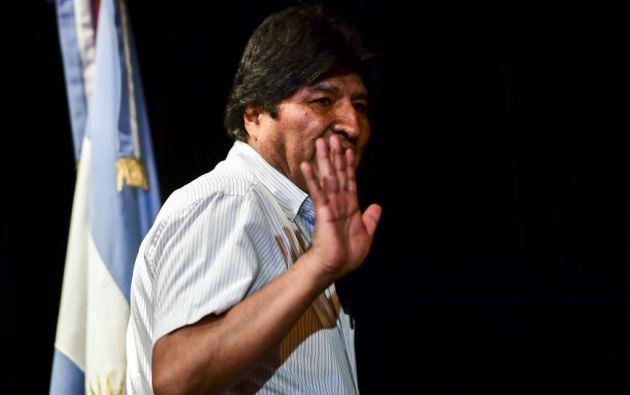 Morales abandonó Bolivia el pasado 11 de noviembre después de que las Fuerzas Armadas le forzaran a dejar el cargo.  Foto: AFP