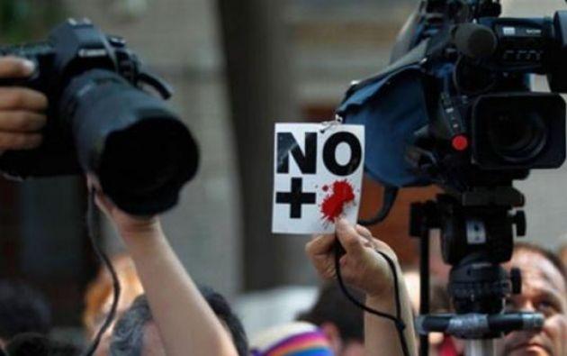México es de lejos el lugar más peligroso para el ejercicio del periodismo. Foto: AFP