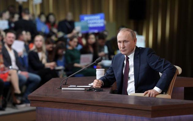 """""""El Partido Demócrata quiere lograr resultados por otros medios acusando a Trump"""", dijo Putin. Foto: AFP"""